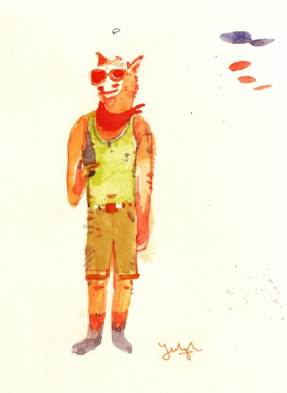 Hipster Animal Watercolors