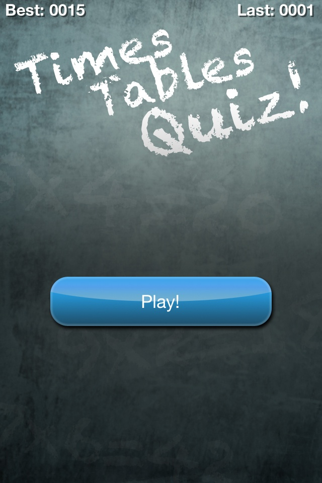 3rd grade Times Tables Quiz! (Multiplication Trainer)-iPhone App