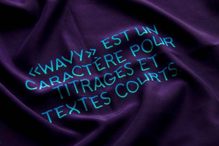 Marie Brochier | Wavy Type — Typographie de titrage