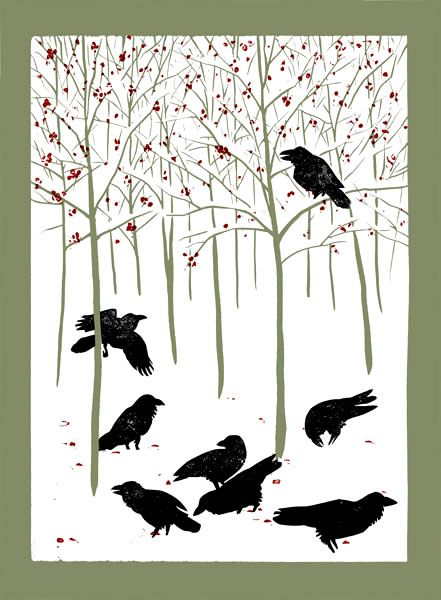 """Ravens in Winter"" by Rick Allen Simply Beauty-Full!! What a Wondrous Image of a StoryTelling of Ravens!!"