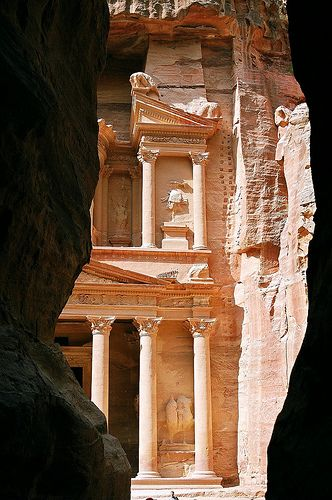 Petra - Jordan One of the Seven Man-Made Wonders of the World. I've already been, but I want to go back.