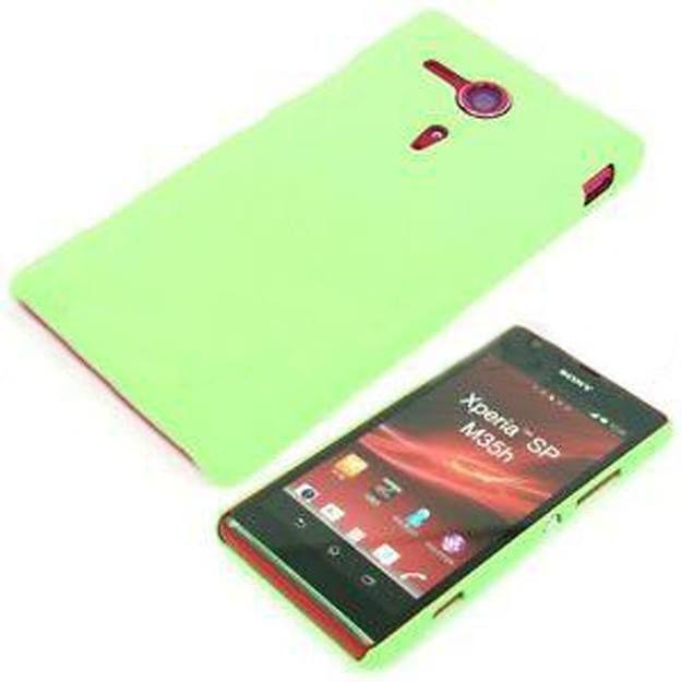 Rubber Plastic Case Green (Sony Xperia SP M35h/c5302/c5303) - myThiki.gr - Θήκες Κινητών-Αξεσουάρ για Smartphones και Tablets - Χρώμα πράσινο