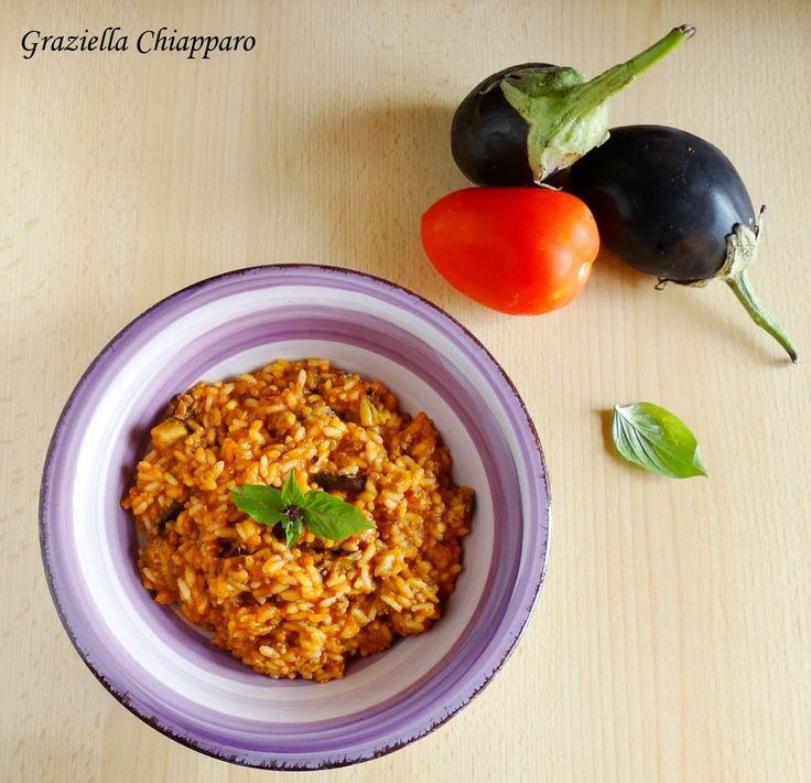 Risotto+con+ragù+e+melanzane+grigliate+|+Ricetta