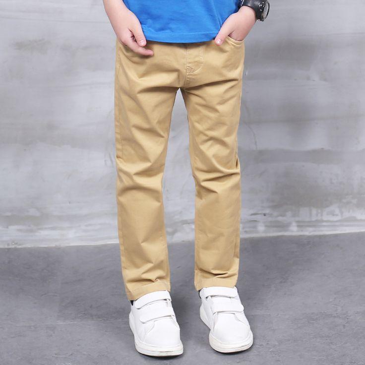 Pioneer Kids 2016 Spring&autumn 4-14T Boys Solid Casual Pants Teen Clothing Leisure Children Vague School Teens Trousers