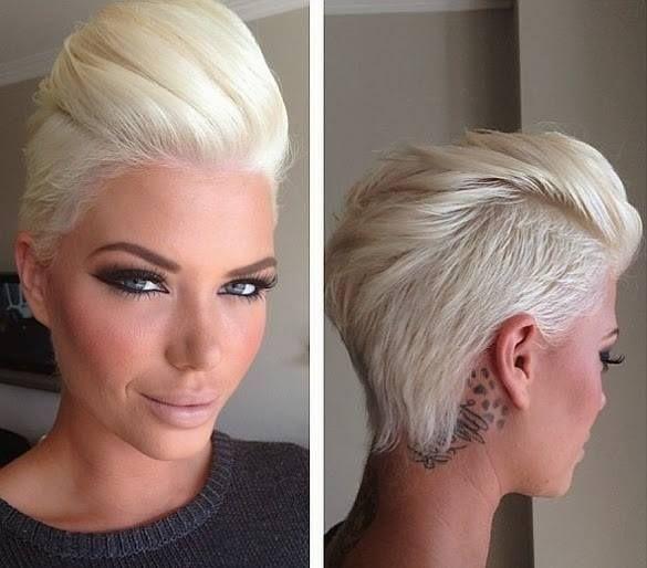 seksowne blond włosy, włosy zaczesane do tyłu