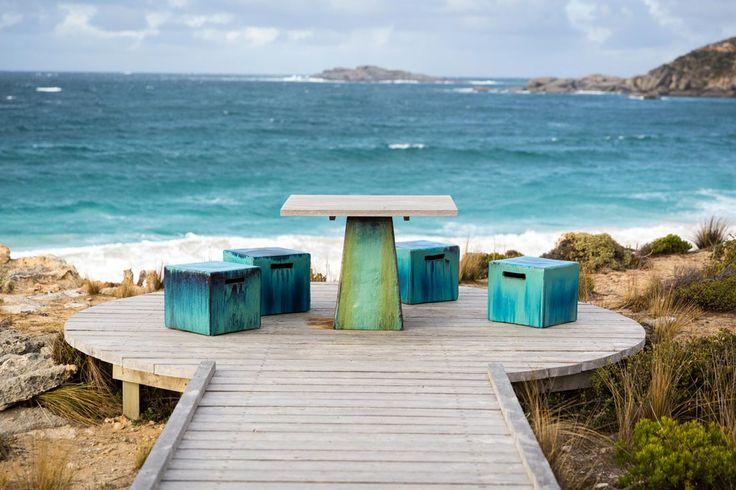 Tisch am Südpazifik
