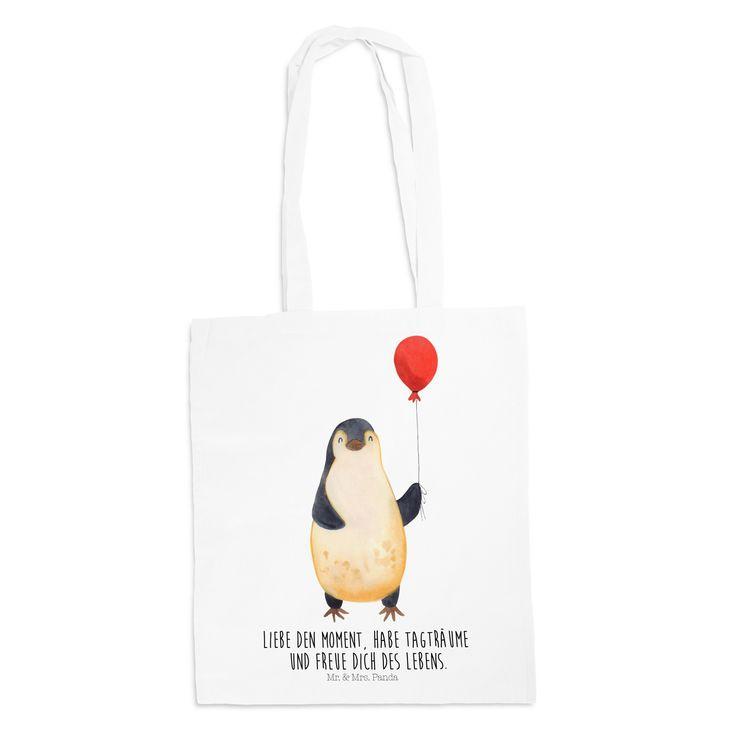 Tragetasche Pinguin Luftballon aus Kunstfaser  Natur - Das Original von Mr. & Mrs. Panda.  Diese wunderschöne weiße Tragetasche von Mr. & Mrs. Panda im Jutebeutel Style ist wirklich etwas ganz Besonderes. Mit unseren Motiven und Sprüchen kannst du auf eine ganz besondere Art und Weise dein Lebensgefühl ausdrücken.    Über unser Motiv Pinguin Luftballon  ##MOTIVES_DESCRIPTION##    Verwendete Materialien  Die verwendete sehr hochwertige Kunstfaser ist langlebig, strapazierfähig und abwaschbar…