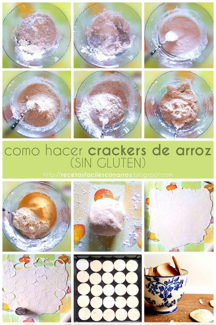 Como hacer galletas o crackers de arroz sin gluten de forma rápida y sencilla. Receta en mi blog: https://recetasfacilesconarroz.blogspot.com.ar/2017/06/como-hacer-las-mejores-crackers-o-galletas-de-arroz-sin-gluten.html