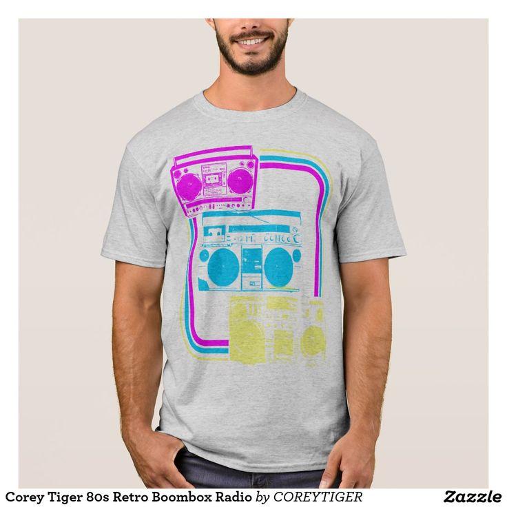 Corey Tiger 80s Retro Boombox Radio T-Shirt