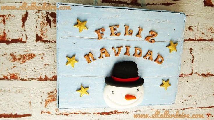 Decora en Navidad con carteles navideños de imitación a madera