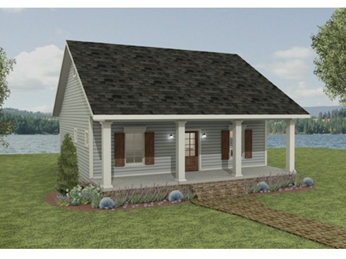 Country House Plan With 992 Square Feet And 2 Bedrooms From Dream Home Source House Plan Code