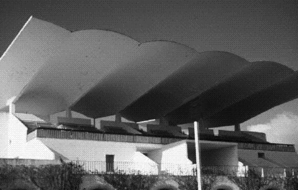Eduardo Torroja, Zarzuela Hippodrome, Spain, mid-1930s.Torroja was one of the earliest pioneers of  thin-shell, reinforced concrete design, and pushed it to its limits.