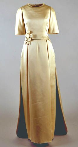 Ivory evening gown worn by Jacqueline Kennedy to the Inaugural Gala, National Guard Armory, Washington D.C. January 19, 1961