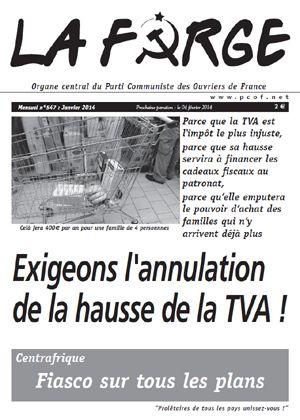 Parti Communiste des Ouvriers de France PCOF. Membre du Front de Gauche. Journal : La Forge. Fondé en 1979.