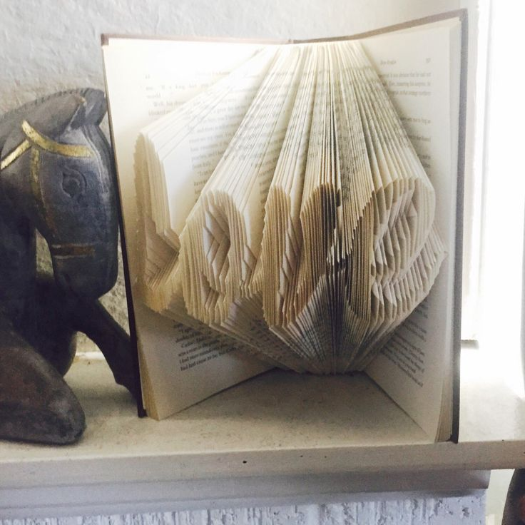 A personal favourite from my Etsy shop https://www.etsy.com/au/listing/295311665/folded-book-art-love-word-book-word-book