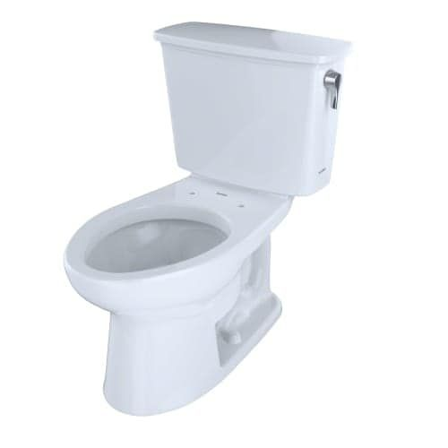 Toto CST744EFRN.10 Eco Drake 1.28 GPF Two Piece Elongated Toilet with Right-Hand Tank Lever - Less Seat, Clear