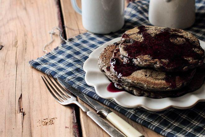 Гречневые блины с шоколадной стружкой - фото рецепт кулинарного портала Oede.by