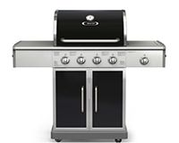 BBQTEK 4 BURNER LP GAS GRILL GSF2520KL WITH SIDE BURNER IN AFFORDABLE PRICE AT GRILLTOWN  Its Features as Below: Durable hood is constructed of 304 Stainless Steel with powder coated aluminum end caps Primary cooking size - 500 SQ. IN. Secondary - 180 SQ. IN. Total cooking surface - 680 SQ. IN. Plastic control knobs 60,000 Total BTU's for cooking performance Fully adjustable cooking power up to 12,000 BTU's per burner 680 Square inches of total cooking surface (4) Stainless Steel tube…