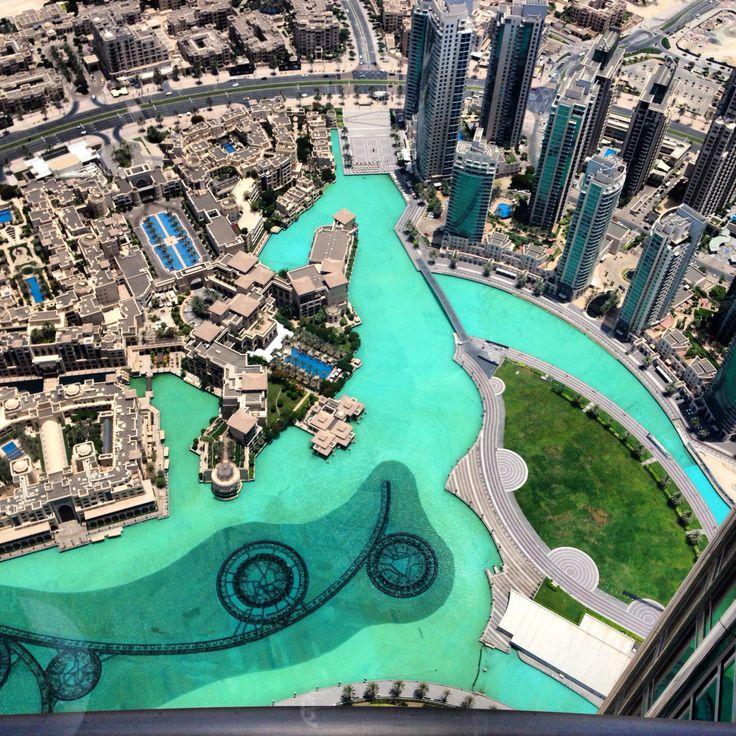 At the top Burg Khalifa, Dubai