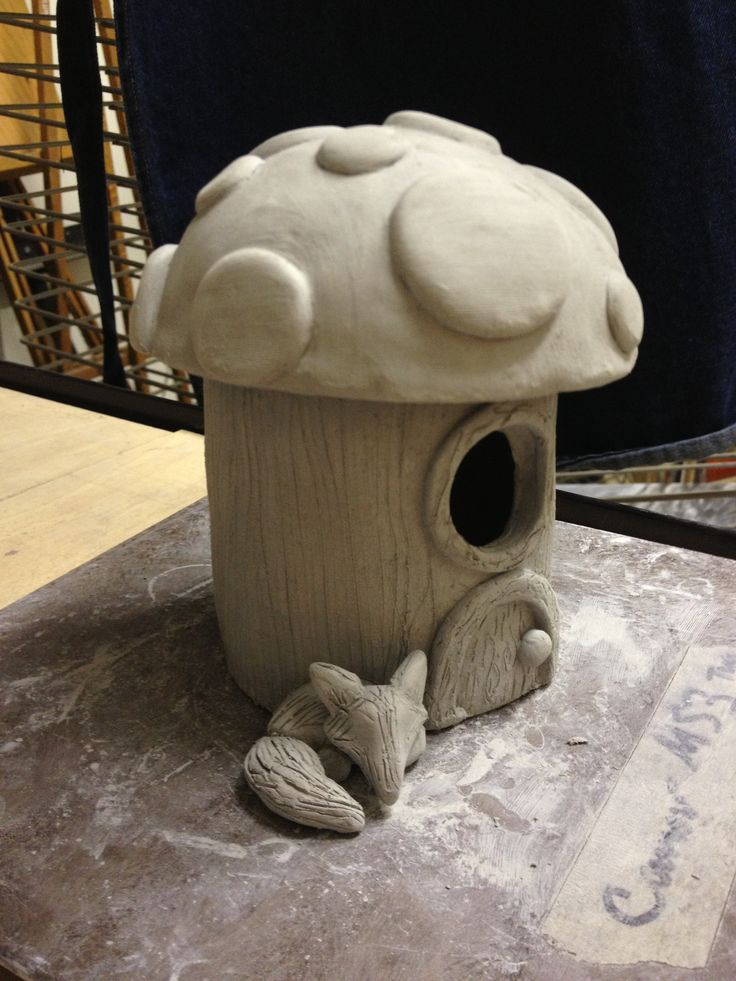 Ceramic Fairy House Lesson (slab construction-part one) www.createartwithme.com