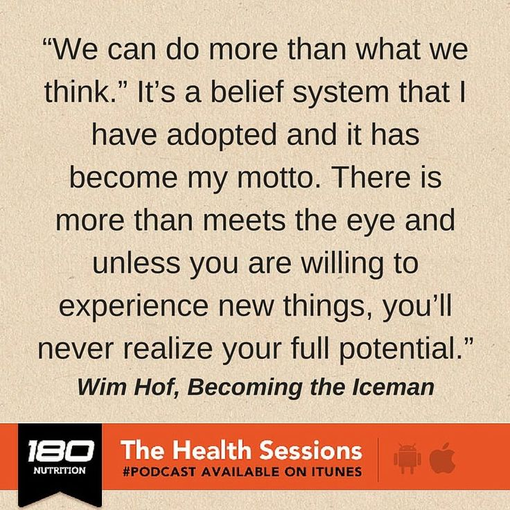 Do you believe in this quote by Wim Hof the Iceman? Is this something you live by? This podcast is a must listen to if you want to be inspired. http://180nutrition.com.au/180-tv/how-to-supercharge-hormones-strength-mood-health-using-breath-techniques/?utm_source=facebook&utm_medium=scpc&utm_content=podcast%2Bquote&utm_campaign=organic
