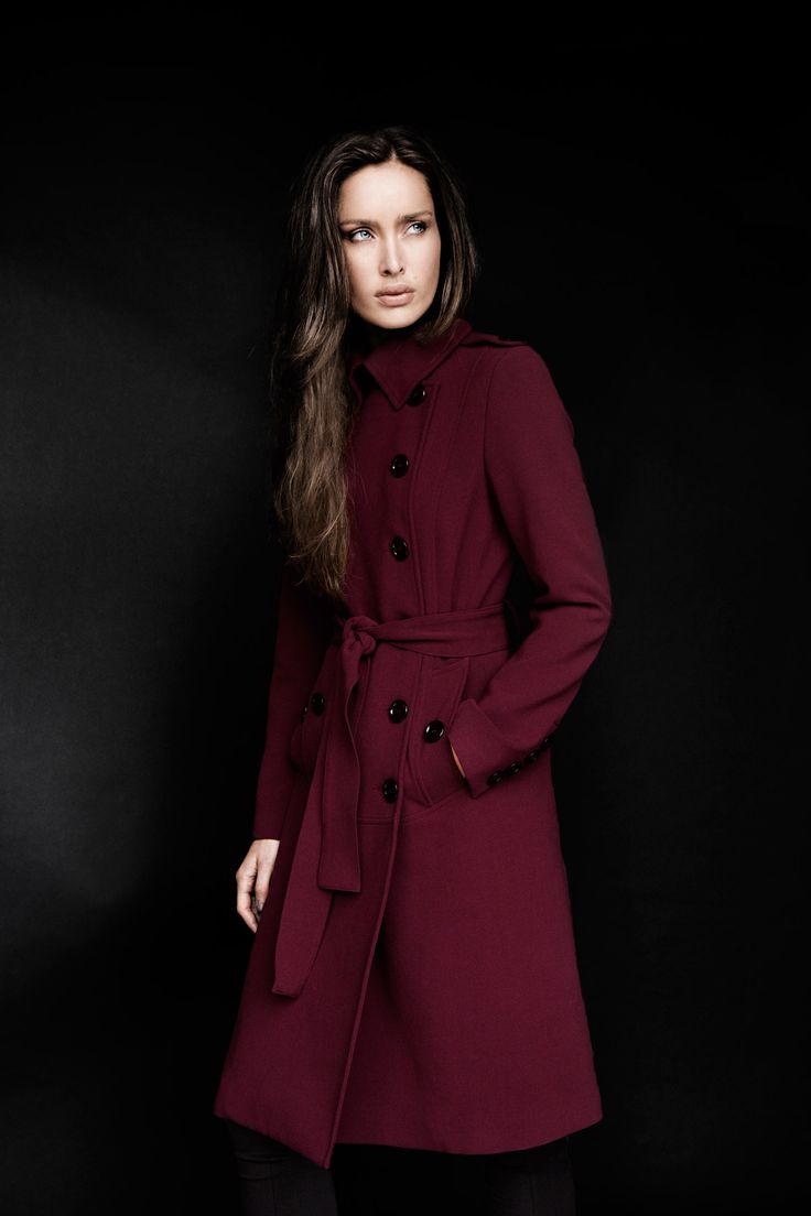 Double-breasted, belted coat with statement buttons by Carolyn Donnelly The Edit