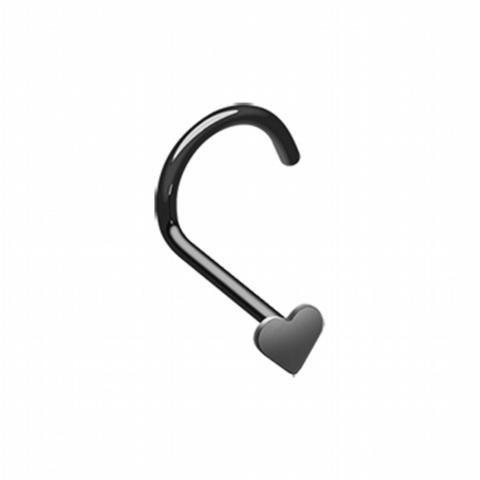 Colorline Heart Nose Screw Ring-WildKlass Jewelry