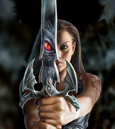 Fantasy Warrior Dragon Woman