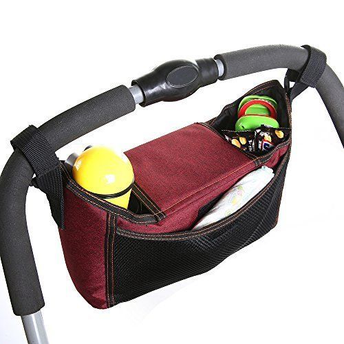 Stroller Organizer Bag For Moms Cup Holder Storage Space Best Baby Shower Gift #StrollerOrganizerBag