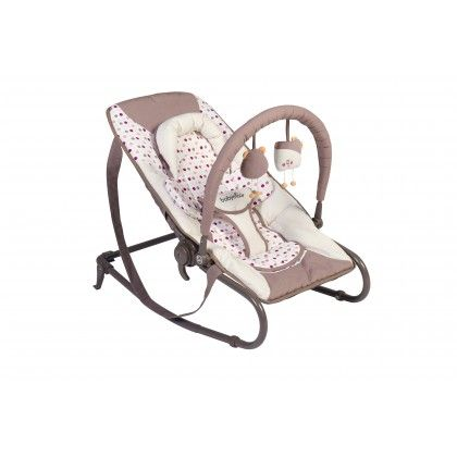 The ultra comfortable & compact bouncer !     Get 20% off if you add a 2nd sleeping item     Parentslove this  bouncer  that is comfortable and  easy totransport . It provides a safe place where baby can sleep soundly or whatch the rest of the family while you keep your hand-free. During playtime, baby will enjoythe removable and  adjustable toy bar . Choose between  natural swing or a fixed position.