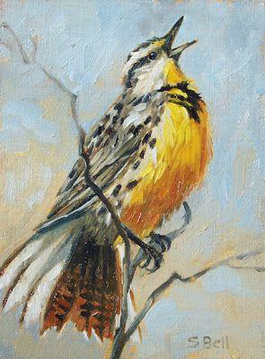 "Wildlife Art International: ""Western Meadowlark' Original Oil Bird Painting by…"