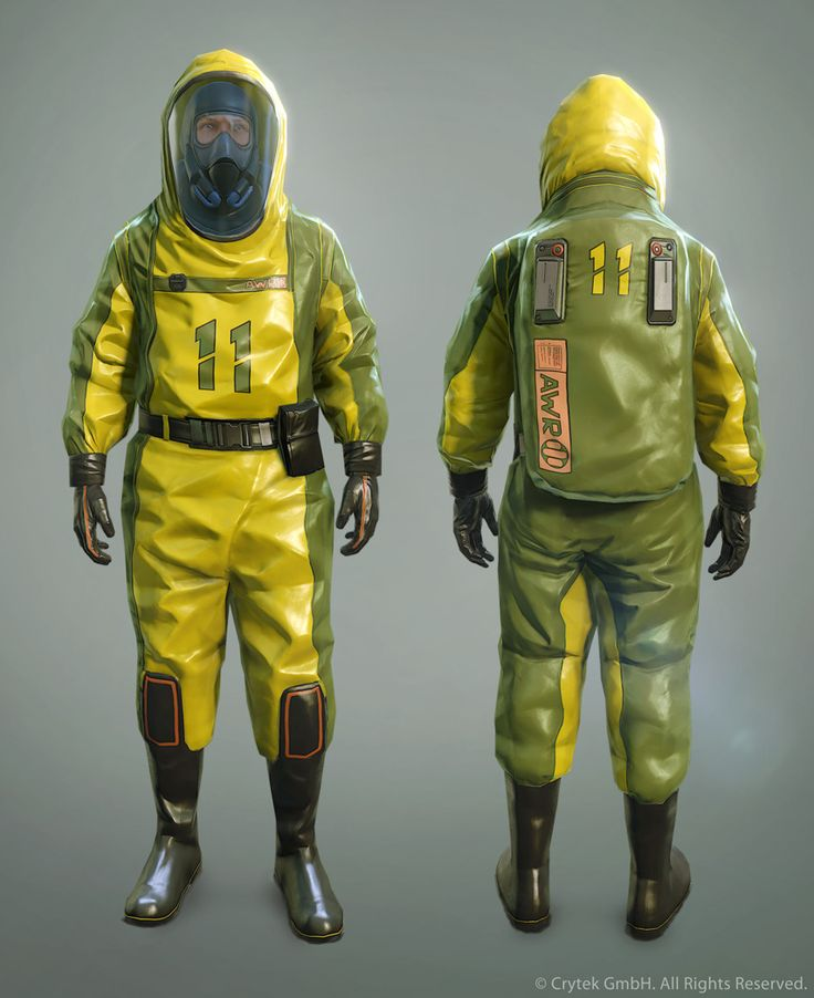 Your operation demands serious looking hazmat suits like ...
