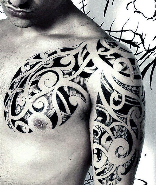 80 Tribal Shoulder Tattoos For Men – Masculine Design Ideas