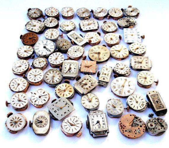 Gran Lote de 50 Relojes Suizos Movimiento Mervos por shopvintage1