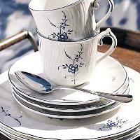 Villeroy und Boch Alt Luxemburg Porzellan mit blauem Blumendekor