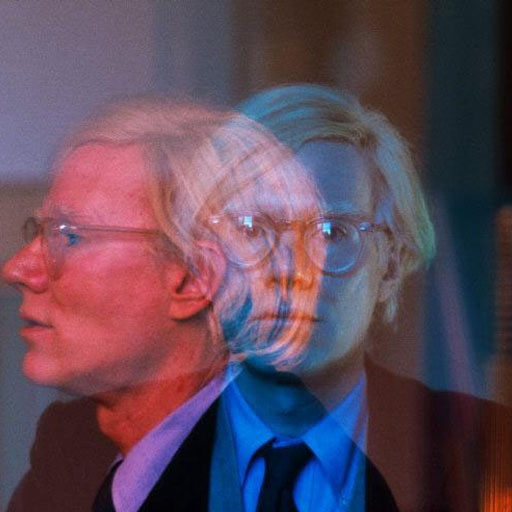 Thomas Hoepker, New York City, Manhattan, 1981. Double exposure of Andy Warhol