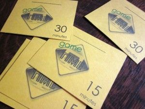 managing kids' screen time: game time cards #weteach