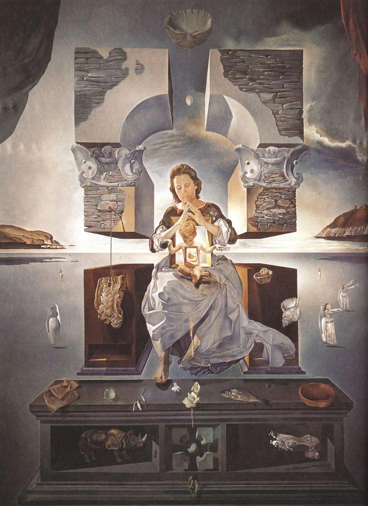 La Madonna de Port Lligat Salvador Dalí, 1950 óleo sobre lienzo. 144 cm × 96 cm Colección Grupo Minami, Tokio, Japon