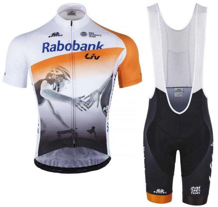 Rabobank LIV 2016 Fahrradbekleidung Radtrikot Kurzarm + Kurz Trägerhose