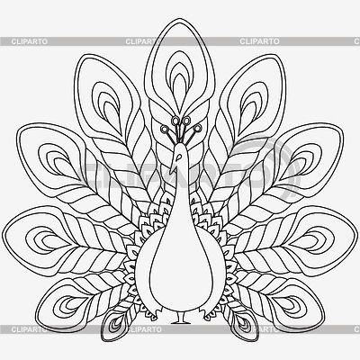 black and white peacock design - Google Search