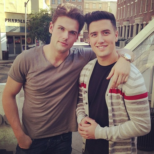 """""""@stephenglickman:Logan and David are better looking than your boyfriend."""" Dude, they look better than all of humanity"""
