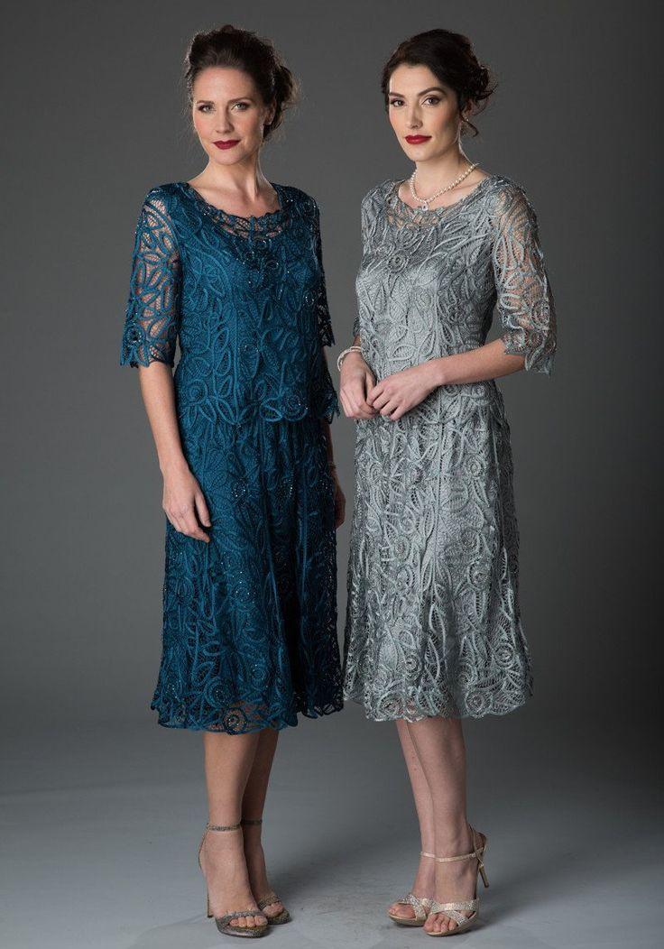 C9128 Silk Hand Crochet Short Sleeve Top with Skirt Set