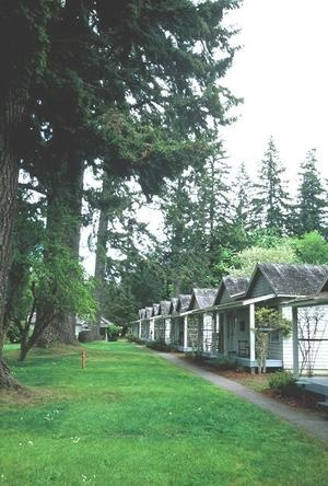 Lake Cresent Lodge cabins, Olympic National Park, WA