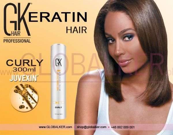 Keratin Hair GK Hair Curly 300ml Global Keratin Juvexin