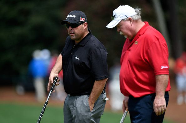 Craig Stadler Photos Photos - Kevin and Craig Stadler of the United States look over a green during a practice round prior to the start of the 2014 Masters Tournament at Augusta National Golf Club on April 8, 2014 in Augusta, Georgia. - The Masters - Preview Day 2