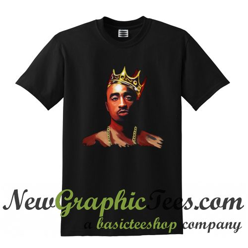 About 2Pac Tupac King T Shirt from newgraphictees.com This t-shirt is Made To Order, one by one printed so we can control the quality. We use newest DTG Technology