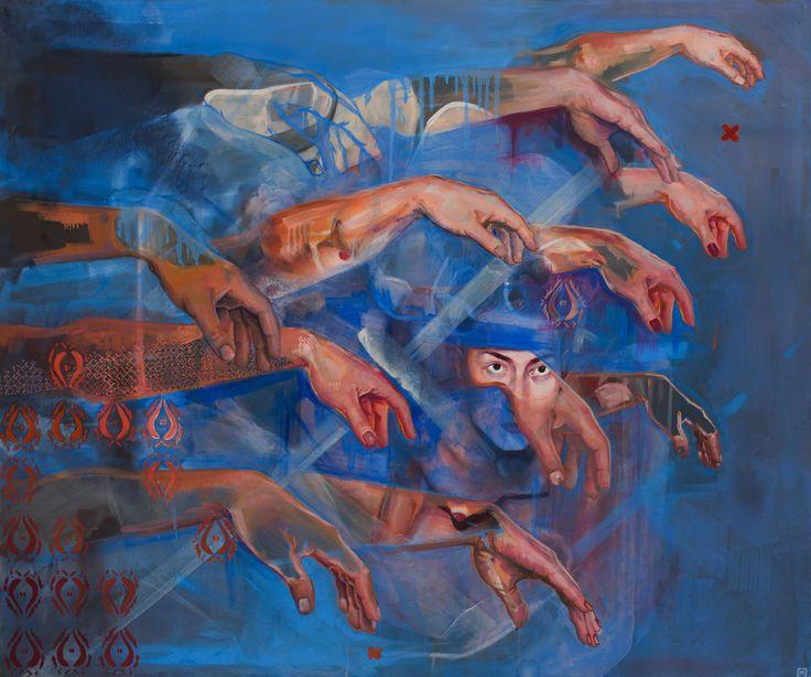 ''Przebaczenie'' Angelika Korzeniowska, olej na płótnie, 110 x 130, 2015r