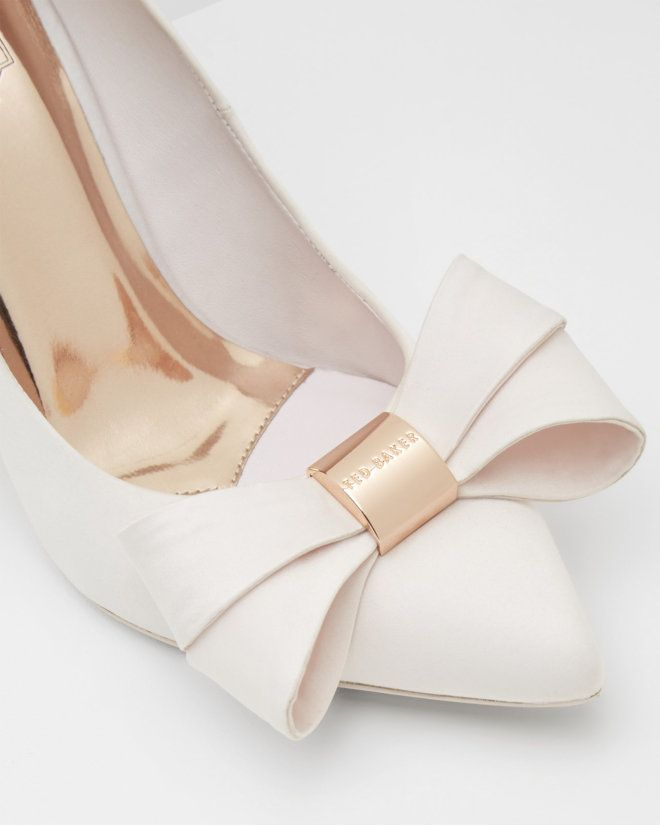 Statement bow court shoes - Light Pink | Shoes | Ted Baker