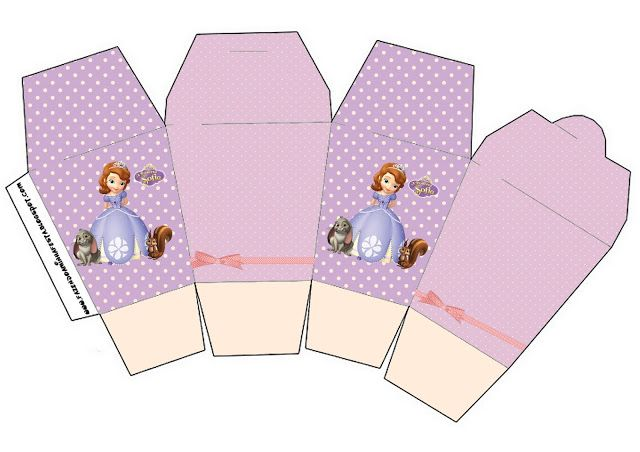 Princesa Sofía: cajas para imprimir gratis. 19 modelos diferentes.