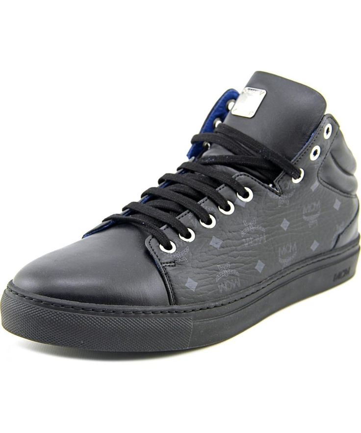 MCM Mcm 5S2141-Blk    Leather  Fashion Sneakers'. #mcm #shoes #sneakers